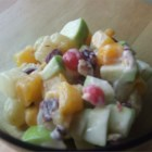 Fabulous Fruit Salad - How could this recipe miss with ripe nectarines, apples, walnuts, and dried cranberries, all stirred in a bowl with lemon yogurt. Chill and enjoy.
