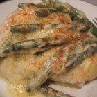 Chicken Sherry - Easy, elegant one-dish chicken casserole with whole green beans and sherry in a creamy sauce. All you need is a salad, some rolls and a good glass of wine!
