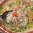 Cock-A-Leekie Stew - Chicken and leeks simmer with barley and carrots in this easy-going Scottish stew.