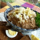 Bubbie's Chopped Liver - A traditional chopped liver with hardboiled eggs, grated carrots, and onions.