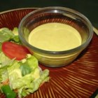 Honey Mustard Dressing I - You 'll need a bowl and a whisk and a salad waiting to be dressed. Soy sauce, garlic, mustard, and honey are stirred into mayonnaise until thick and creamy. That 's it. Spoon over greens with bacon bits or use to make a great ham salad sandwich.