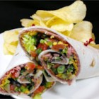 Dan's Meat Wrap - A very good deli-style wrap. Use different meats for variation.