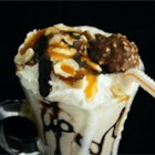 Frantic Nuts - A nutty shake made with hazelnuts, ice cream and hazelnut liqueur.
