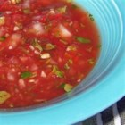 Toe's Best Salsa - When the tomatoes aren't at their best, make this yummy salsa with canned tomato sauce, fresh peppers, garlic, lime juice, onion, and cilantro.