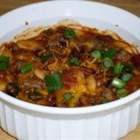 "Three Bean Potluck Casserole - ""This a great dish for a crowd--it can be doubled or tripled. Ingredients can be kept on hand and preparation is simple and fast! Also can be made in slow cooker."""
