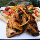 San Diego Grilled Chicken - This is a Southern California version of sweet and sour chicken, marinated and grilled with a little extra spice. Great for all barbeque lovers. Serve with with fresh cilantro, homemade salsa, guacamole, black beans, and flour tortillas warmed on the grill.