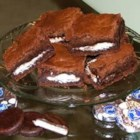 Peppermint Patty Brownies - Brownies with York Peppermint Patties in them.