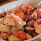 Red Salad - If you love beets, (which I didn't till I tried this) you'll love this! My Peruvian mother-in-law taught me how to make this extraordinary recipe! It goes great with fried chicken, but I usually make it when I make my Puerto Rican arroz con pollo. My husband refuses to eat chicken if I don't include this salad.