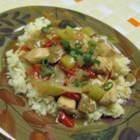 Quick Chick - A generous splash of soy sauce gives an Asian touch to chicken simmered with celery, onion and mushrooms.