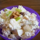 Affy Tapple Salad - A sweet, crunchy, almost candy-like apple salad.  For added flavor, use 2 green and 2 red apples!