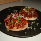 Asian Turkey Barbecue on Sesame Scallion Toasts - Leftover turkey and Asian ingredients combine to create this uniquely delicious dish.
