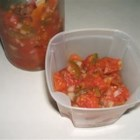 Fast and Simple Salsa - This simple salsa recipe calls for nothing more than tomatoes, onion, green chile peppers, vinegar, and salt.