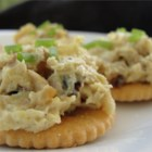 Far East Tuna (Canapes) - Crackers are the foundation for this simple but irresistible mixture of tuna, pecans and pineapple delicately spiced with curry. I use this recipe when friends are over during the holidays.