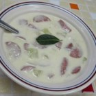 Potato and Turkey Sausage Soup - A quick and easy, hearty and creamy potato soup with flavorful, yet healthy, turkey Polska kielbasa.
