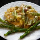 Asparagus Casserole - This cheesy asparagus recipe is simple, quick, and fantastic!