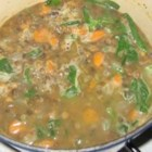 Autumn Lentil Soup - Lentils are simmered with caramelized onions and white wine in this versatile recipe.