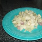 Cabbage and Noodles with Ham - Ham and gnocchi are tossed with cooked cabbage and onions in this easy skillet meal. It is a great way to use leftover ham.