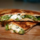 Asparagus and Goat Cheese Quesadillas - Easy and elegant quesadillas made with fresh asparagus and soft goat cheese. A royal combination of flavors for that Southwestern fix. Perfect for family meals and fancy enough for guests. Delicious!