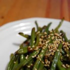 Tasty Green Beans - Tired of plain old steamed green beans?  These are rich and savory because they are cooked with beef bouillon and soy sauce.