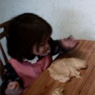 Peanut Butter Playdough - A no-cook peanut butter confection, using just 4 ingredients, that kids can play with and eat!