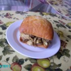 Mushroom Artichoke Sandwich - Fresh, meaty mushrooms and tangy artichokes, seasoned with garlic and Parmesan cheese on French bread, make a wonderful alternative to an ordinary sub sandwich.