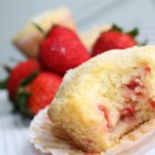 Berry Cornmeal Muffins - Very refreshing, fruity and delicious! These muffins will bring a smile to anyone's day! Share them with someone you love. You may substitute raspberries or blueberries for the strawberries if you wish and feel free to use either naturally flavored strawberry, banana, or vanilla yogurt.