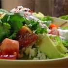 Chicken Avocado Salad - A delicious salad that is great for a quick snack, but attractive enough for entertaining.  You can even have it as a meal in a sandwich, or as a salad atop a lettuce leaf.