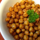 Simple Roasted Chickpea Snack - In this snack recipe, chickpeas are simply seasoned and roasted. Also, try as a salad topping
