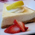 Creamy Cheesecake - This cheesecake is creamier than most cheesecakes, and very easy to make. Use grated lemon zest or 1 teaspoon lemon extract for flavoring.