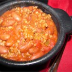 Quick Chili II - This quick ground beef and bean chili features green chiles and Cajun seasoning.
