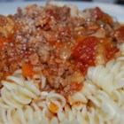 Bolognese Sauce - An excellent chunky pasta sauce with beef, pork, lots of vegetables and tons of flavor. Freeze any unused portions for later use. If you have fresh herbs, you may substitute 2 teaspoons chopped fresh basil for the dried basil in this recipe.