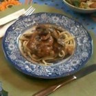 Creamy Chicken Marsala Fettuccine - Golden-brown chicken breasts gently bask in a rich, creamy sauce of Marsala wine, mascarpone cheese, and three kinds of mushrooms. Serve this deluxe chicken dish over hot buttered fettuccine. Your family will think you've gone to Italian cooking school.