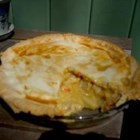 Cheesy Chicken Pot Pie - I love cheese so I experimented and found that this is the greatest meat pie I have ever eaten! This pie makes good use of any chicken or turkey leftovers. It normally serves about 6 people.