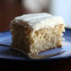Banana Cake II - My family loves this cake.  Frost with a cream cheese frosting with one ripe banana added and confectioners' sugar sprinkled over the top.