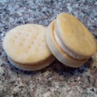Pill Bottle Cookies - Yummy sandwich cookies also known as whiskey glasses, shot glasses, and cream wafers.