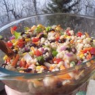 Barley Lime Fiesta Salad - Barley, corn, black beans, and colorful veggies team up with a cilantro-lime dressing to make a different cold salad. Mix the dressing to your own tastes.