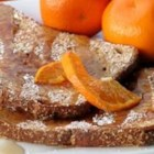 Apres Ski French Toast - This French toast is a great way to celebrate winter. The orange flavor stimulates the senses and adds comfort and warmth after a great morning of skiing. Serve with freshly squeezed or high calcium orange juice to get that extra boost, and top with pure maple syrup or a sprinkle of icing sugar.