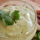 Ali's Green Sauce - This creamy sauce - made from fresh avocado, tomatillos, sour cream, and seasonings - is extremely similar to a very well known Mexican restaurant's sauce. Serve with salsa and tortilla chips. Better double the recipe because this dip goes fast!