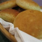 Slot Key Rolls - These big round rolls are baked in soup bowls. The dough is very moist so the rolls are very tender. They're great for sandwiches.