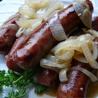 Sheboygan Grilled Brats - Finishing bratwurst in beer sauce just make them better. Serve them on hard rolls with mustard and the cooked onions. Hungry? Try the famous Sheboygan double-brat!