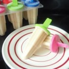 Coconut Cream Pops - Yummy, creamy coconut milk ice pops have a hint of cinnamon.  The hardest part of the recipe is waiting for them to freeze.
