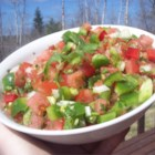 Fresco Salsa - No cooking, no cans. All fresh ingredients and flavor no one will be able to walk away from! Sweet onion and fresh lime juice make all the difference in this recipe. My husband and I will eat this at one sitting!