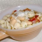 Italian White Bean and Pancetta Soup - Canned cannellini beans, Italian bacon, and pasta make up this satisfying soup flavored with fresh sage. Garnish with freshly grated Romano or Parmigiano cheese.
