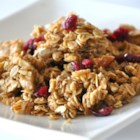 Megan's Granola - This homemade granola recipe uses oats, nuts, and dried fruit to create a tasty family-friendly breakfast cereal.