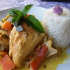 Chicken Stew With Coconut Milk