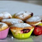 Strawberry Cheesecake Muffins - Dessert muffins with a special strawberry-cream cheese surprise inside!