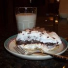 Chocolate Ribbon Pie - A quick pie with a layer of chocolate pudding atop a cream cheese layer and finished with a layer of whipped topping. Garnish with chocolate shavings if desired.