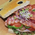 Focaccia Sandwich - My family believes that nothing satisfies hunger like a sandwich, so I make them often for lunch, dinner and late-night snacking. The request this version often.