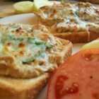 Tuna Melts - A cheesy tuna sandwich with onion and melted mozzarella.