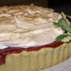 Rhubarb Meringue Squares - A light fluffy square of rhubarb topped with a melt-in-your-mouth meringue. I have been asked to share this recipe by friends who have tried it.
